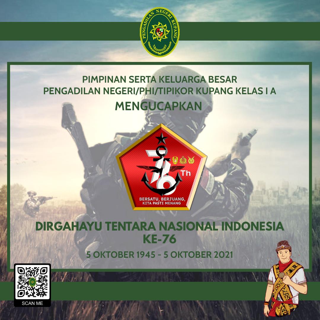 Dirgahayu Tentara Nasional Indonesia Ke-76