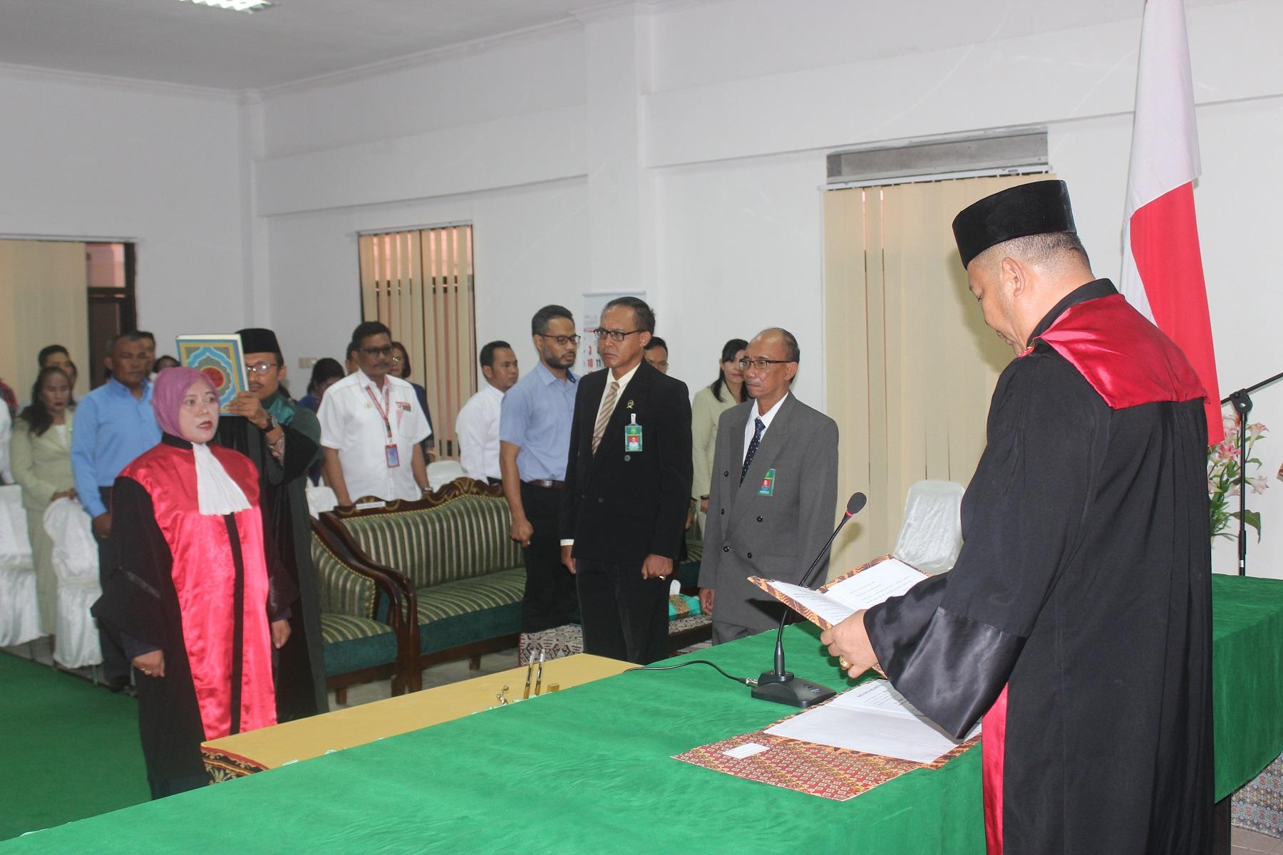 Pengambilan Sumpah dan Pelantikan Wakil Ketua Pengadilan Negeri Kupang Kelas IA