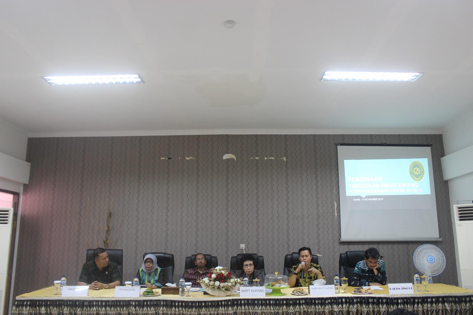 Acara Pembinaan Pengadilan Tinggi Kupang di Pengadilan Negeri Kupang Kelas IA