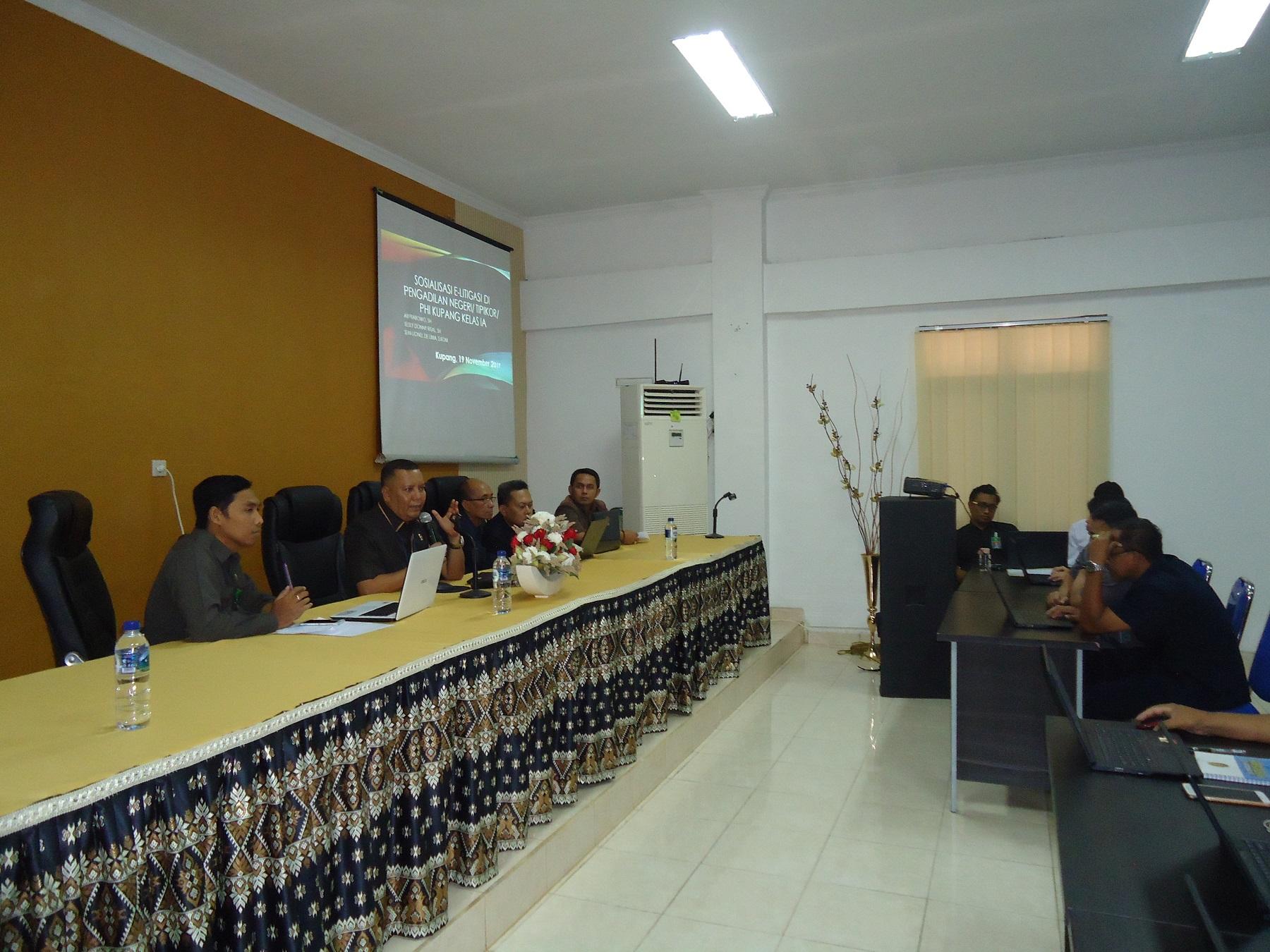 Sosialisasi E-Litigasi pada Pengadilan Negeri Kupang