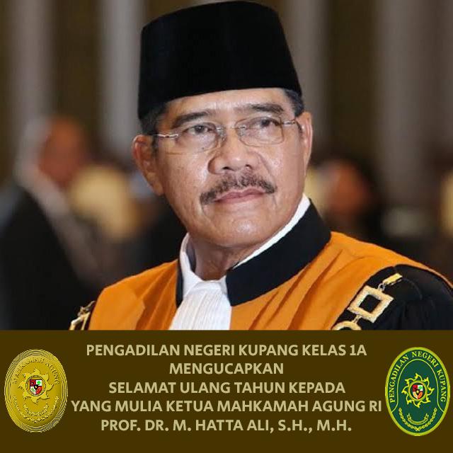 Selamat Ulang Tahun Yang Mulia Ketua MA-RI