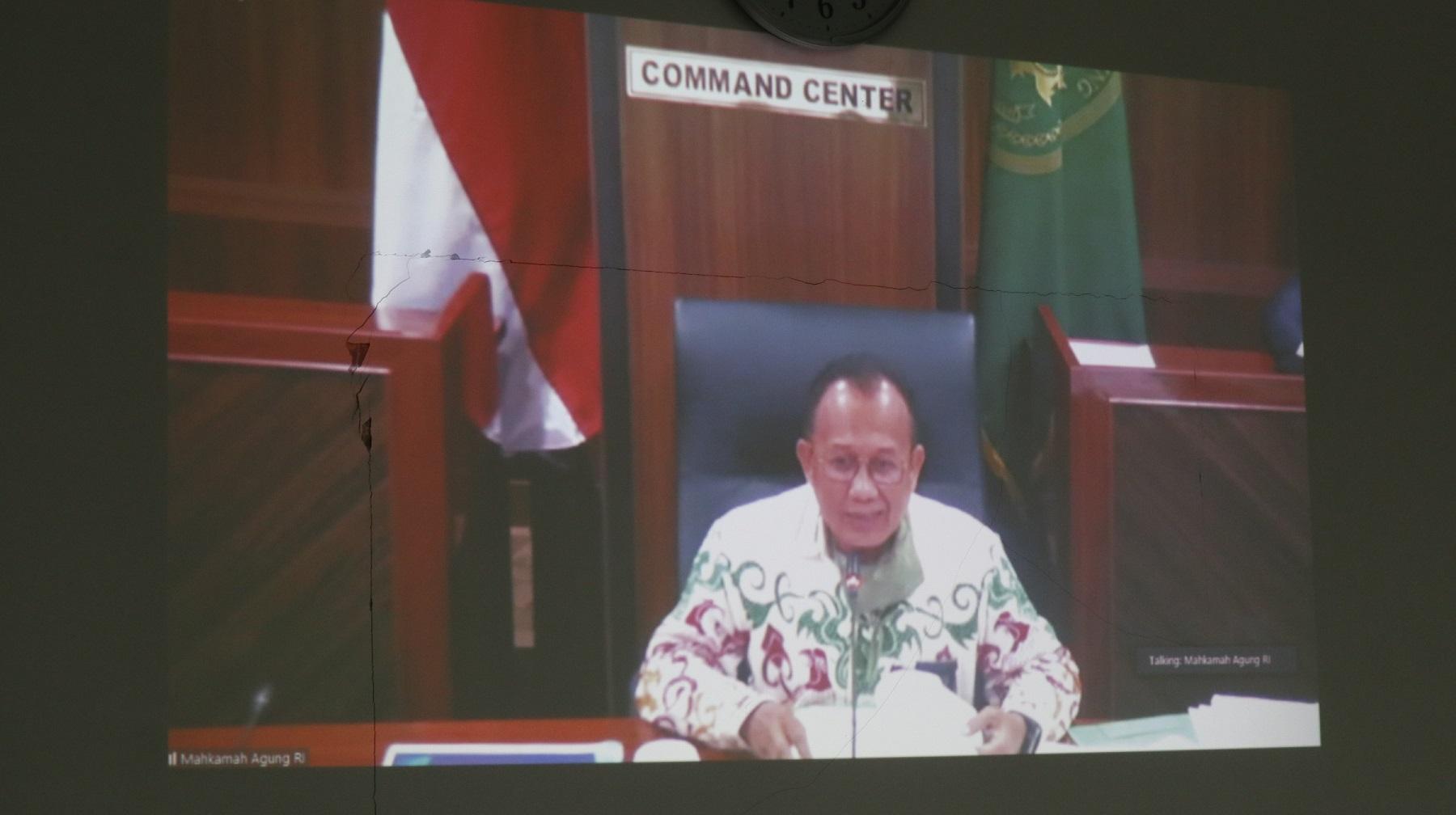 Video Conference dengan Bapak Sekretaris Mahkamah Agung mengenai Survey Budaya Kerja dan Persiapan MA menuju New Normal dalam Masa Pandemi COVID-19