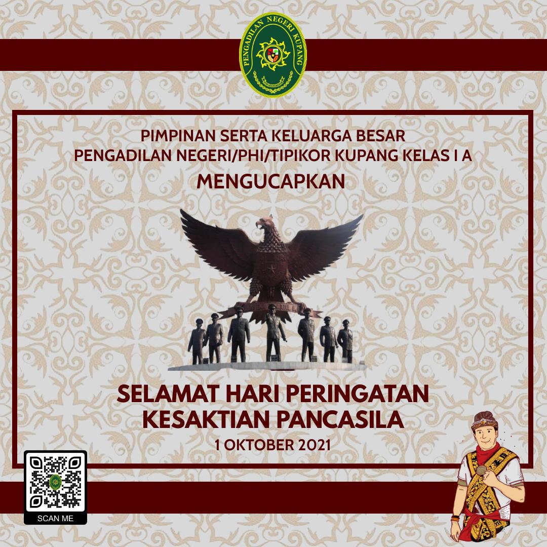 Selamat Hari Peringatan Kesaktian Pancasila 1 Oktober 2021