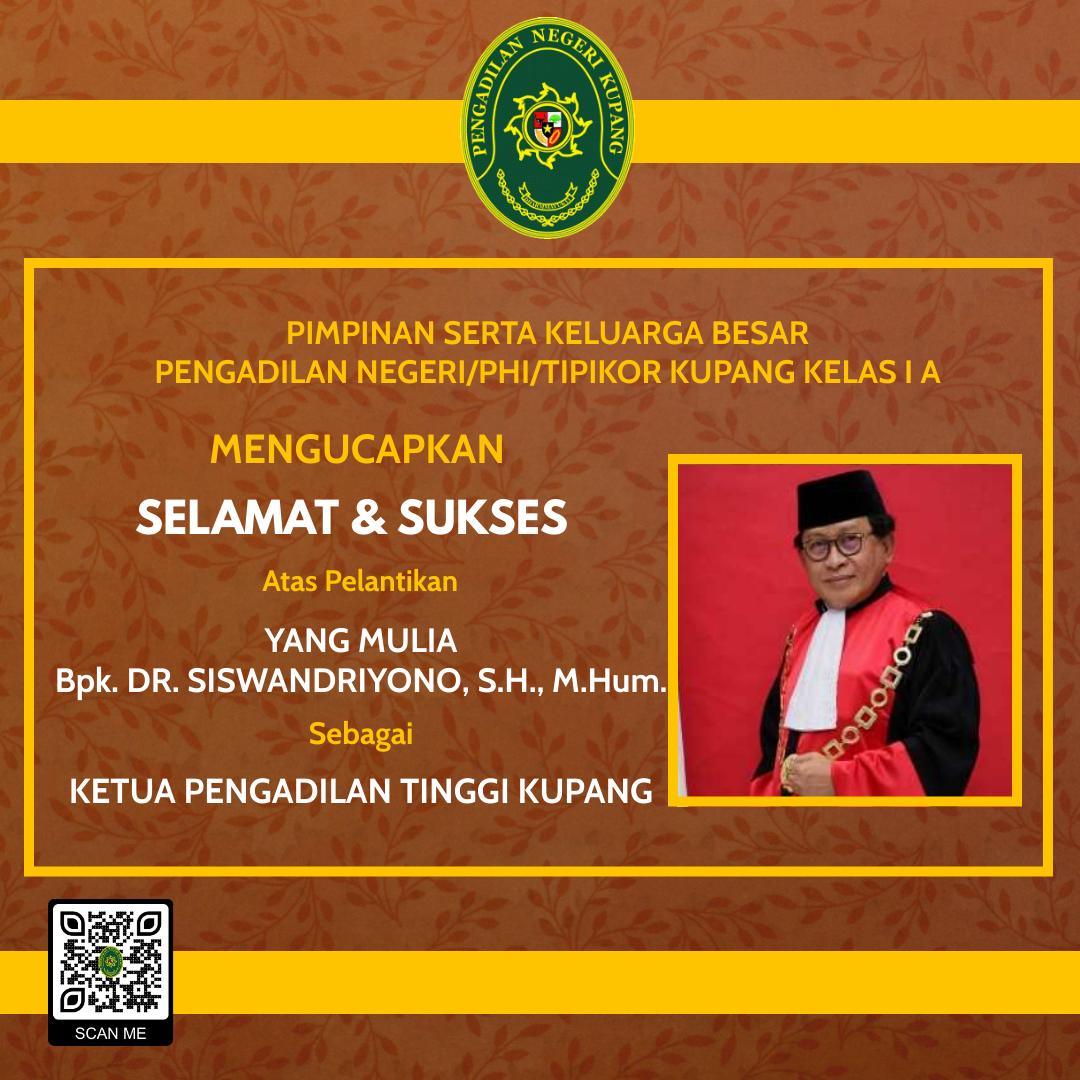 Pelantikan Ketua Pengadilan Tinggi Kupang