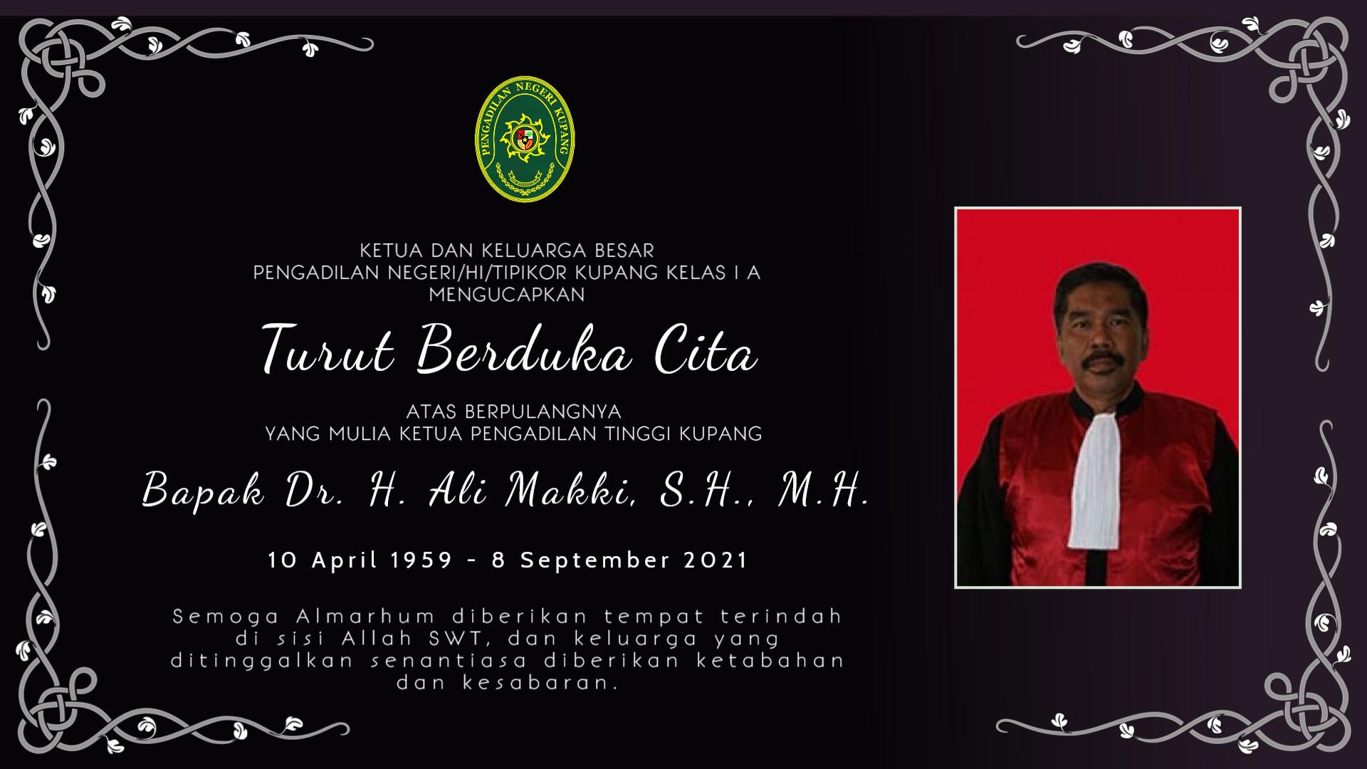 Turut Berduka Cita Atas Berpulangnya Ketua Pengadilan Tinggi Kupang