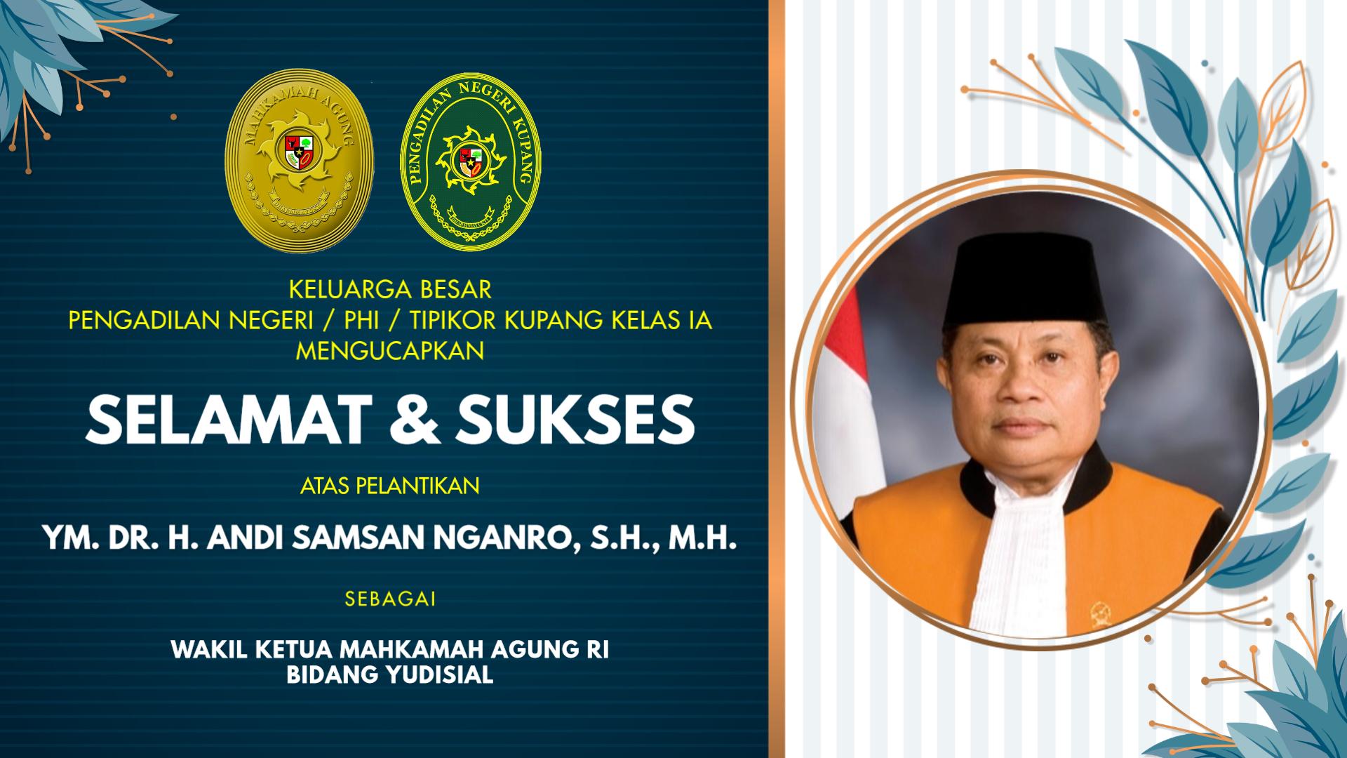 Pelantikan Wakil Ketua Mahkamah Agung RI Bidang Yudisial